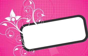 Swirling Frame Banner Halftones Background - Free vector #342439