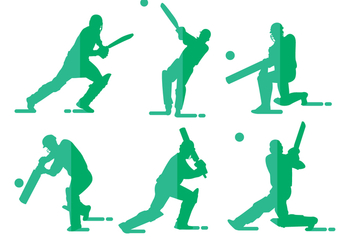 Cricket Player Vectors - Free vector #342659