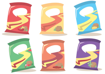 Bag Of Chips Vector Set - Kostenloses vector #342689