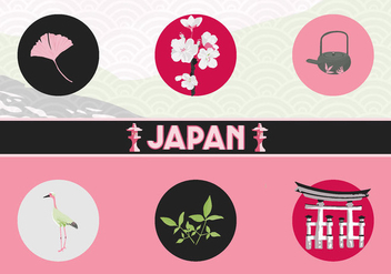 Japan Vector Icons - vector gratuit #342699