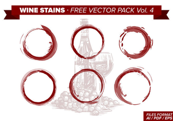 Wine Stains Free Vector Pack Vol. 4 - Free vector #342929