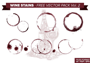 Wine Stains Free Vector Pack Vol. 2 - Free vector #342969
