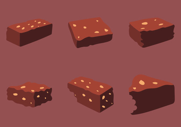 Free Brownie Vector Illustration - Kostenloses vector #342979