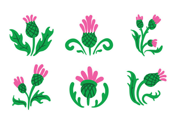 thistle Vector - Free vector #343029