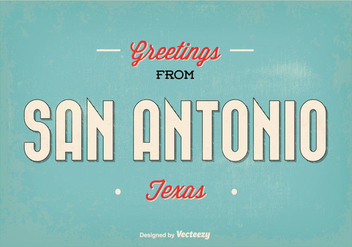 Retro San Antonio Greeting Illustration - vector gratuit #343059