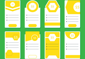 Yellow Pricing Table - Kostenloses vector #343079