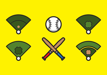 Free Baseball Vector Icon Illustrations #5 - Kostenloses vector #343129