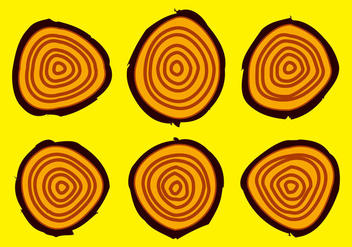 Free Tree Rings Vector Illustration #16 - Kostenloses vector #343149