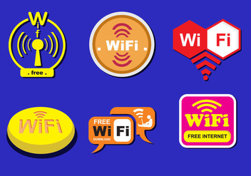 Various WiFi Logos - Free vector #343159