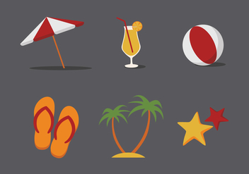 Vector Beach Illustration Set - Free vector #343179