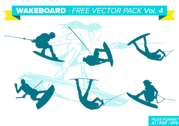 Wakeboard Free Vector Pack Vol. 4 - Kostenloses vector #343299