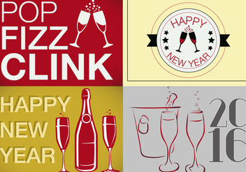 Free Multiple New Years Vector - Kostenloses vector #343309