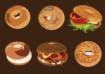 Bagel Bread Vectors - бесплатный vector #343359