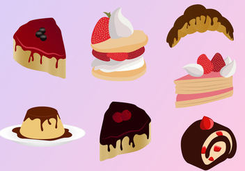 Sweets Cakes Strawberry Illustrations Vector - бесплатный vector #343369