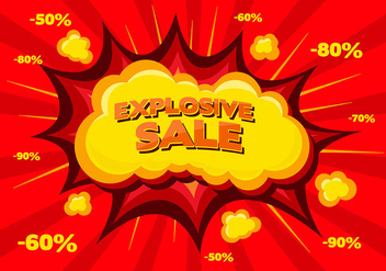 Free Sale Vector Background - бесплатный vector #343409