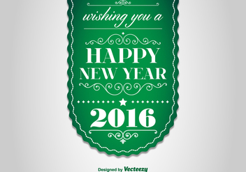 Happy New Year 2016 Label - Kostenloses vector #343439