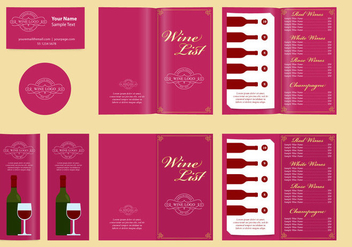 Classic Templates And Wine List - Kostenloses vector #343729
