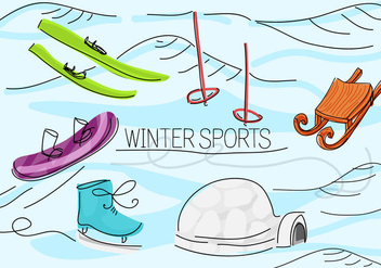 Free Winter Sports Vector Background - бесплатный vector #343749