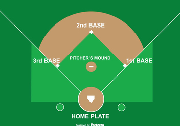 Baseball Diamond Illustration - Free vector #343769