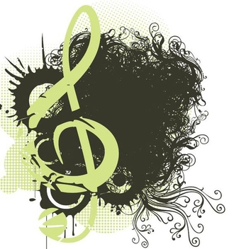 Swirling Grungy Melody Decoration - Free vector #343819