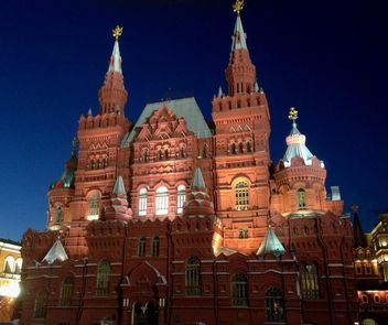 Historical museum in moscow on red square - бесплатный image #344179