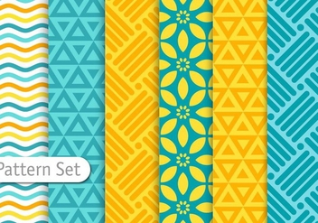 Colorful Geometric Pattern Set - vector gratuit #344339
