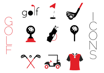 Creative Golf icons - vector gratuit #344349