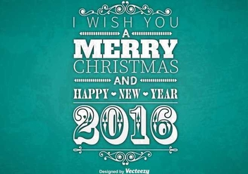 Typographic Merry Christmas design - Free vector #344359