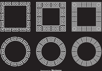 Free Greek Key Vector Frames - бесплатный vector #344459
