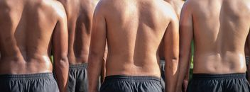 Rear view of men's backs - Free image #344589