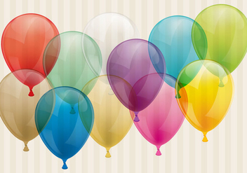Transparent Balloons - бесплатный vector #344689