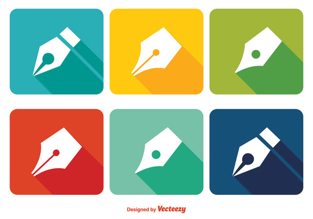 Pen Nib Icon Set - vector #344699 gratis