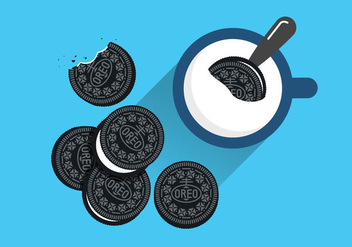 Oreo Cookie Vectors - Free vector #344739