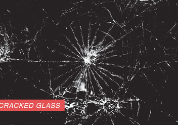 Cracked Glass - vector gratuit #344799