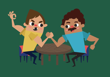 Arm Wrestling - vector gratuit #344849