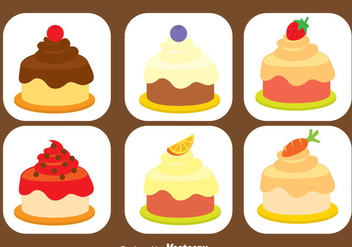 Sweet Shortcake Icons Set - vector gratuit #344869