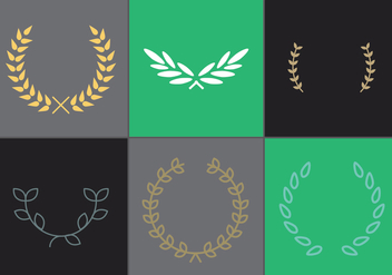 Olive Wreath Vector Set 1 - vector gratuit #344889