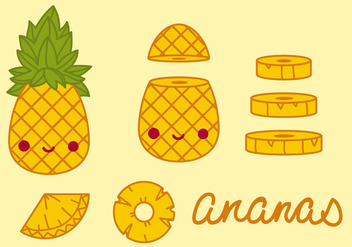 Ananas Pineapples Vector - бесплатный vector #344919