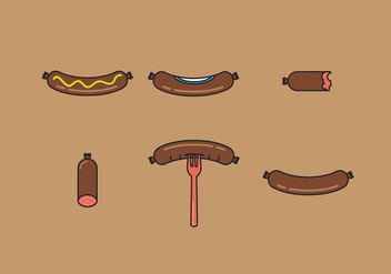 Bratwurst Vector Illustrations - бесплатный vector #344929