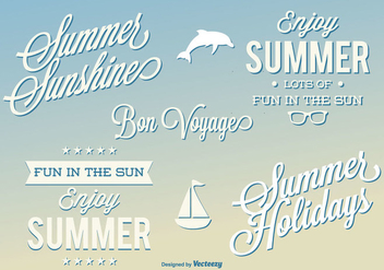 Summer Label Set - Kostenloses vector #344939