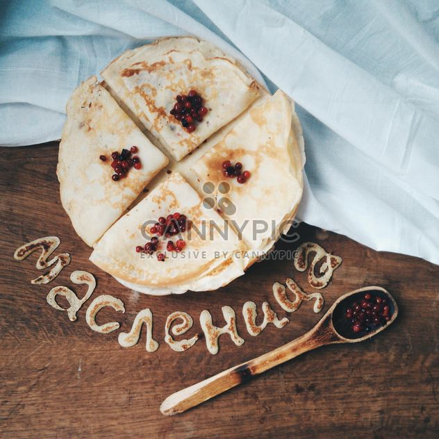 Fresh pancakes with berries for Shrovetide - Free image #345069