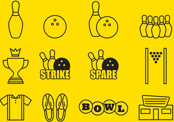 Bowling Icons - Free vector #345159
