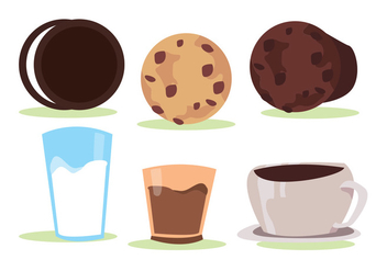 Cookie Vector Set - бесплатный vector #345179