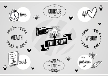Free Wisdom Words Vector Background - vector gratuit #345209