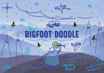Free Bigfoot/Yeti Vector Background - Free vector #345299