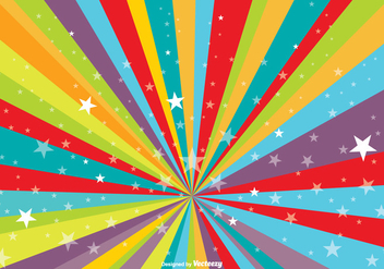 Colorful Burst Background with Stars - vector #345349 gratis