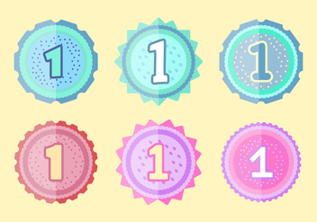 Free 1st Birthday Badges - vector gratuit #345459
