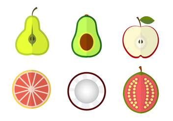 Fruit Vectors - vector gratuit #345479