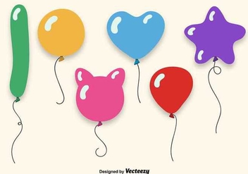 Colorful balloons set - vector gratuit #345519