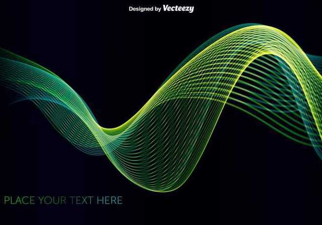 Abstract green/blue wave - Free vector #345549